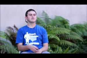 Derek telling a story in american sign language