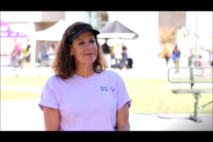 scarlet at a deaf awareness day in san diego telling a story about her life in american sign language